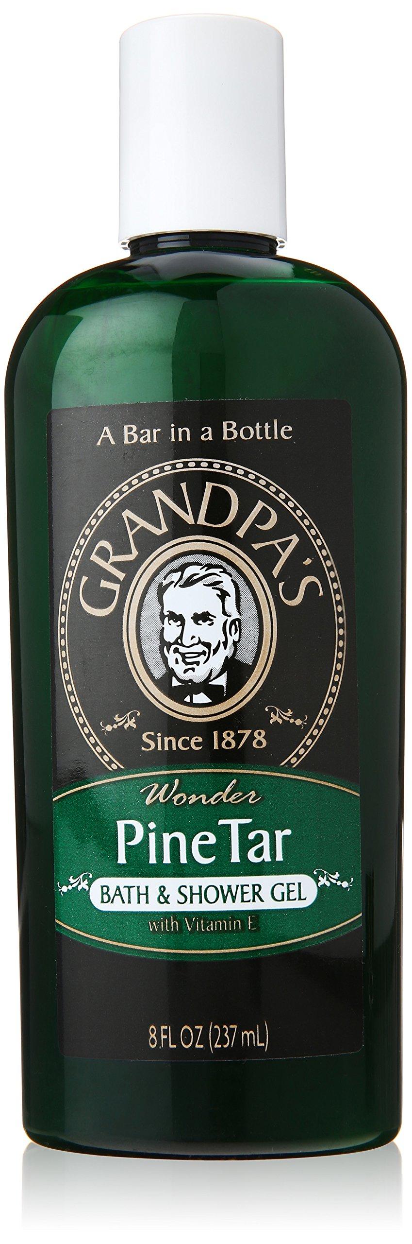 Grandpa's Brands Pine Tar Bath and Shower Gel, 8 Ounce