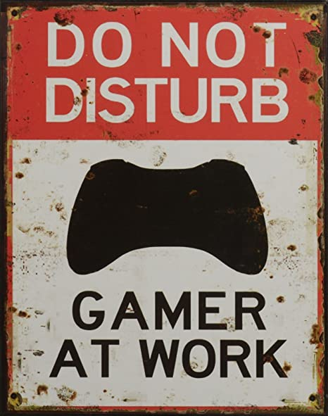 Luxus Pur UG Retro Cartel de Chapa Do Not Disturb - Gamer At ...