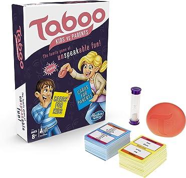 Hasbro Gaming TABOO Kids Vs. Padres Juego de Mesa Familiar a ...