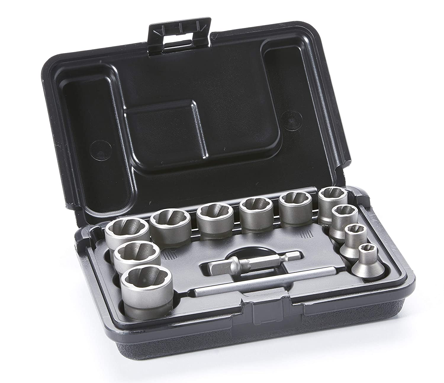 ROCKETSOCKET Impact Bolt & Nut Extractor Set   Remove Damaged Bolts, Nuts & Screws   13 Piece Set - Proudly Made in America