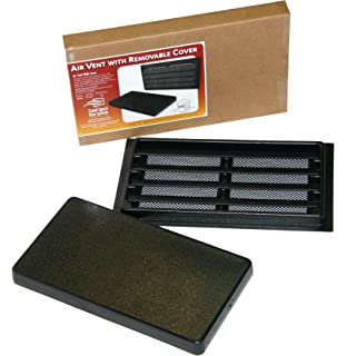 manual crawl space vent with removable cover and vermin screen - Foundation Vent Covers