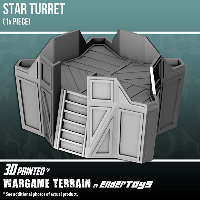 Star Turret, Terrain Scenery for Tabletop 28mm Miniatures Wargame ...