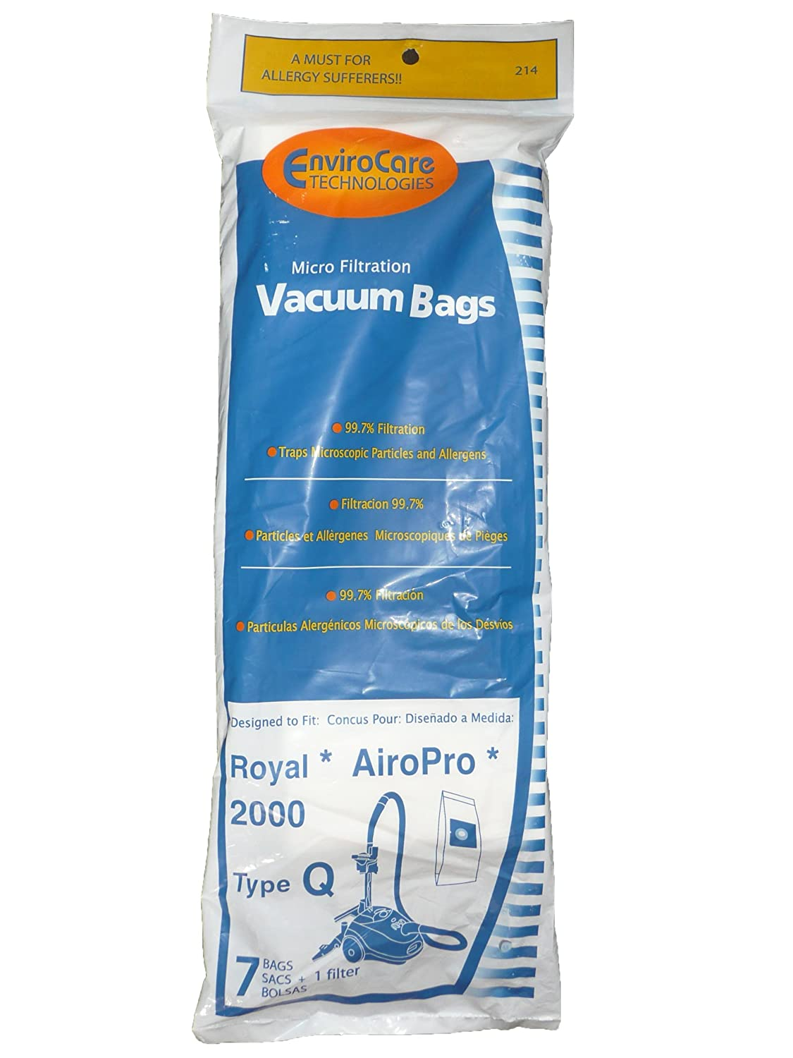 Amazon.com - 14 Royal Type Q Allergy Vacuum BAG + Filter ...