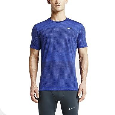 89b9a243 Nike Men's Dri-Fit Cool Tailwind Stripe Shirt, Game Royal/Reflective Silver  SM at Amazon Men's Clothing store: