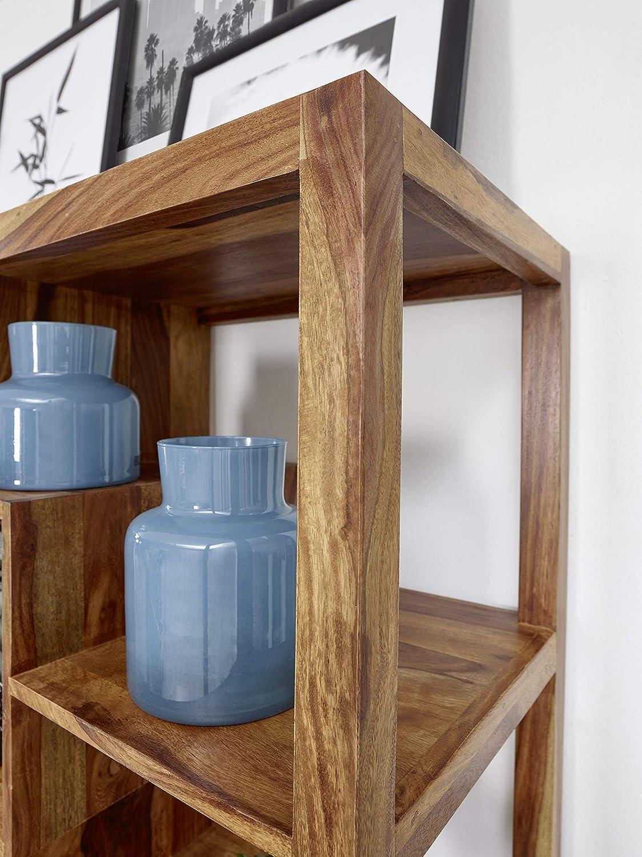 Finebuy Bucherregal Massiv Holz Sheesham 115 X 180 Cm Wohnzimmer