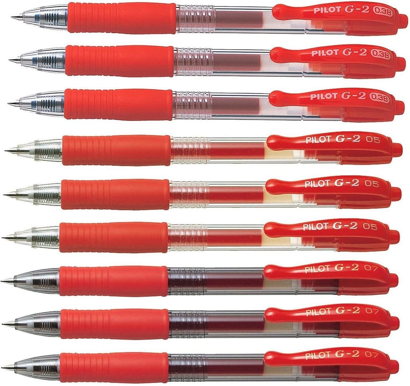 PILOT G-2 G2 0.7mm roller ball pen 3 Red