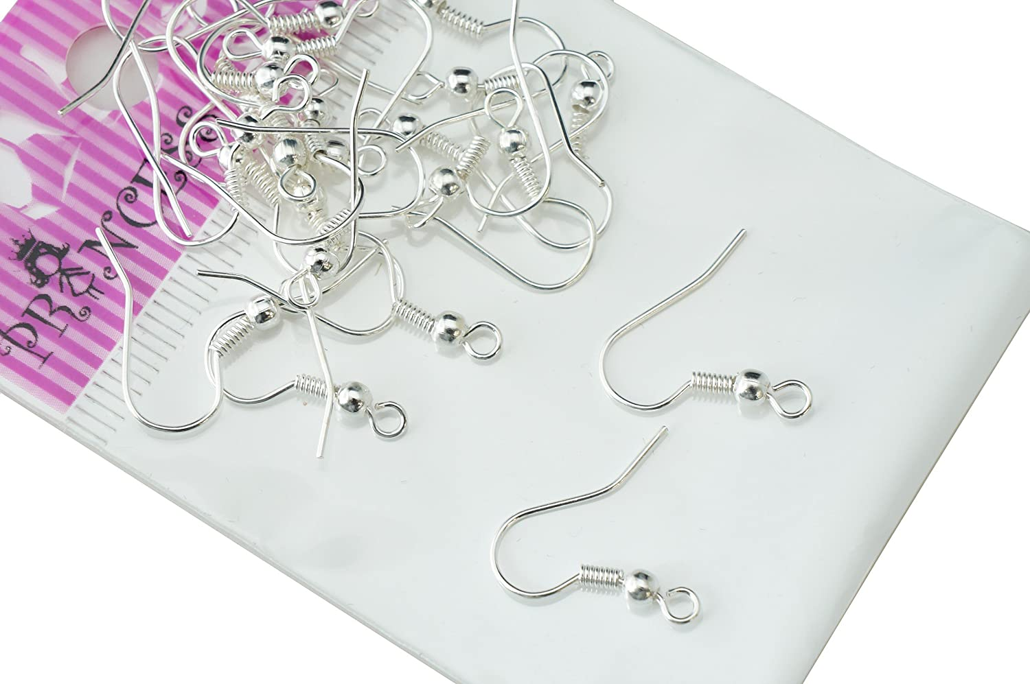 Silver Plated Fishhook Earwires and Jump Rings Jewelry Findings for DIY Earrings