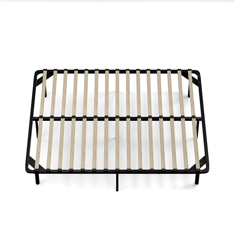 amazoncom handy living wood slat bed frame queen kitchen dining - Wood Slat Bed Frame Queen