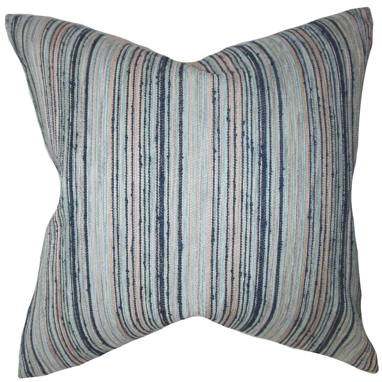 The枕コレクションBartramストライプブルーDown Filled Throw枕   B074KSNT7J