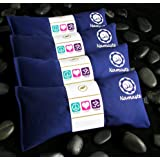 Namaste Yoga Lavender Eye Pillow - Navy - Set of 4