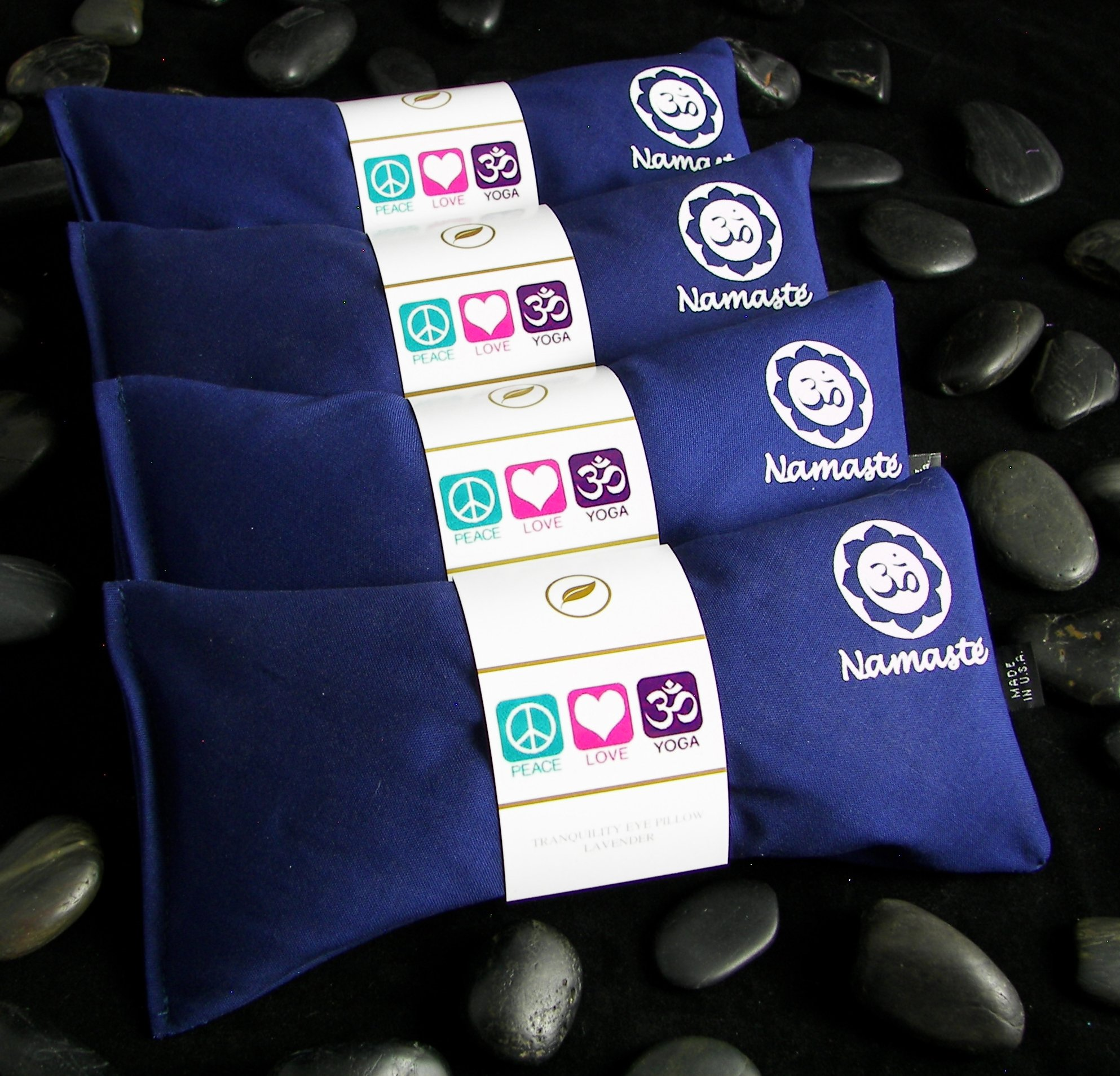 Namaste Yoga Lavender Eye Pillow - Navy - Set of 4
