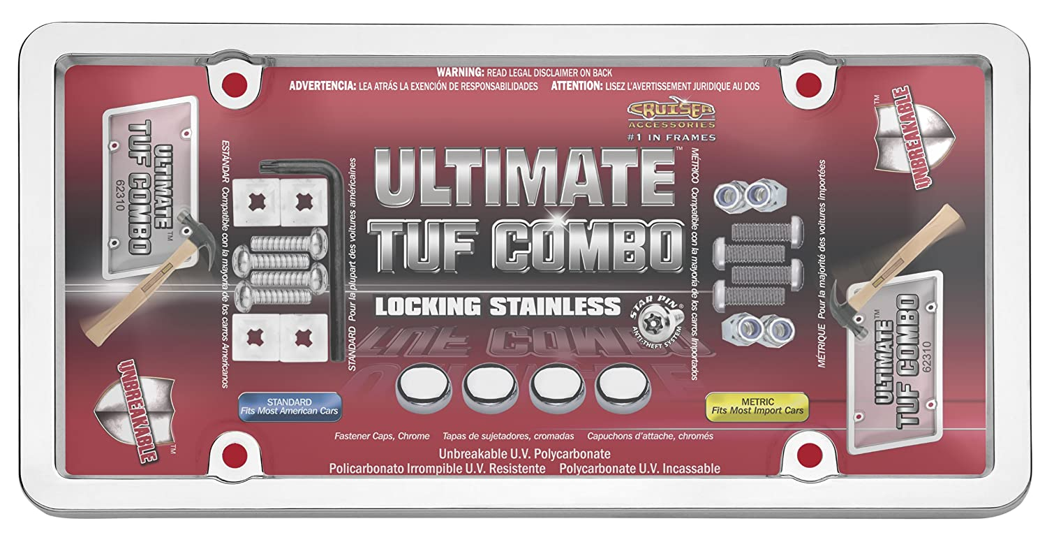 Amazon.com: Cruiser Accessories 62310 Ultimate Tuf Combo, Chrome/Clear: Automotive