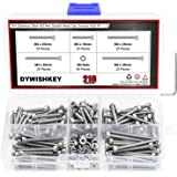 DYWISHKEY 210 Pieces M3 x 16mm/20mm/25mm/30mm/35mm Stainless Steel 304 Hex Socket Head Cap Bolts Screws and Nuts Kit