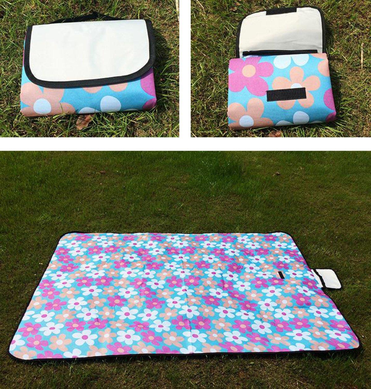 Outdoor Grill Grill Grill Reisen Wasserdicht Tragbar Strandtuch Feuchtigkeitsfest Picknickmatte 150  200cm,C-150150cm B073CCCLBP Picknickdecken Nutzen Sie Materialien voll aus a7f1aa