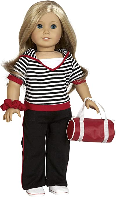 """Red Pants Fits 18/"""" American Girl Doll"""