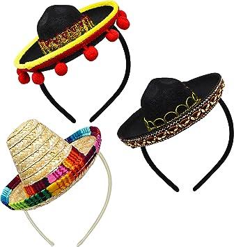 Amazon.com: Cinco de Mayo Fiesta, 3 piezas, tela y paja ...