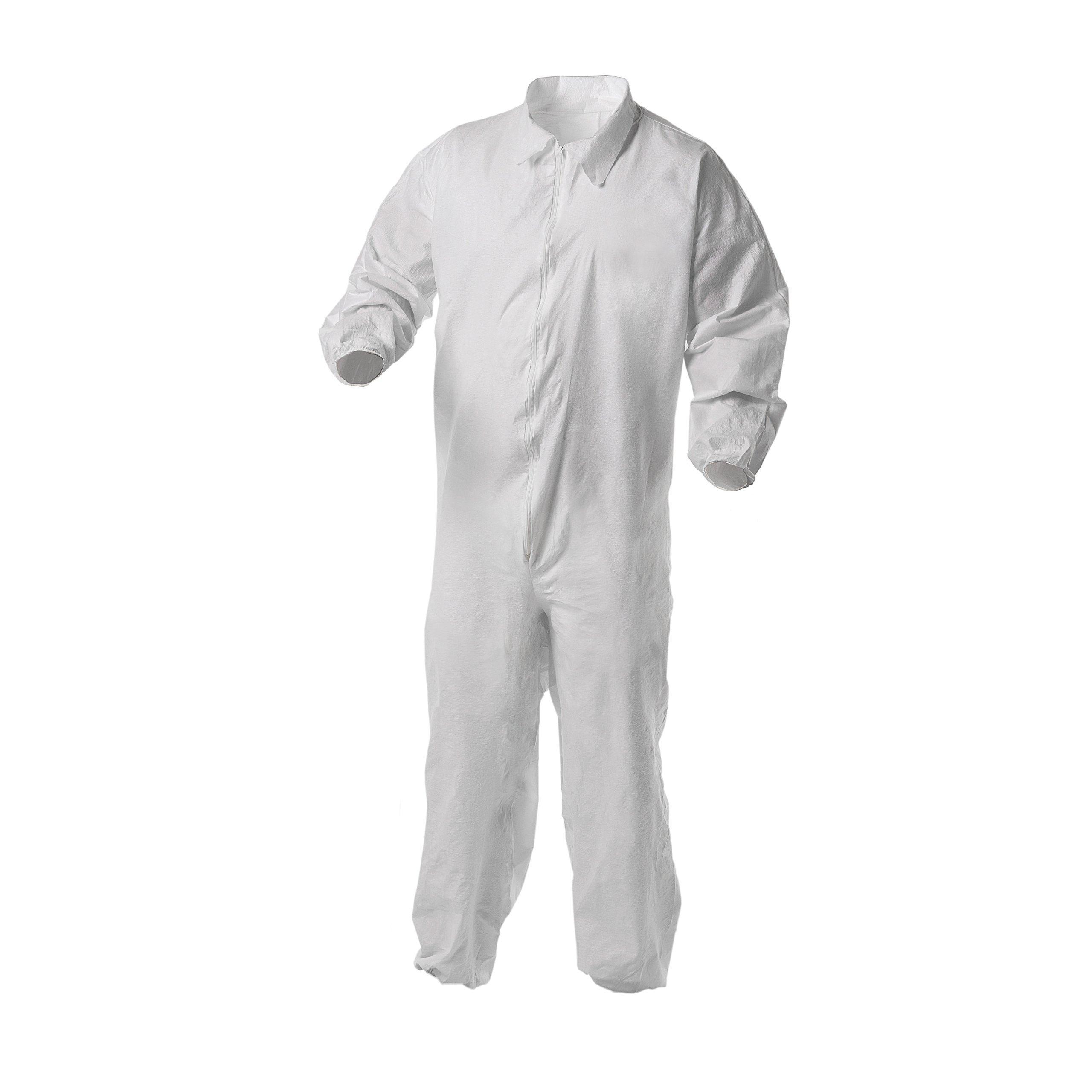 Kleenguard A35 Disposable Coveralls (38930), Liquid and Particle Protection, Zip Front, Elastic Wrists & Ankles (EWA), White, 2XL, 25 Garments/Case