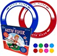 Activ Life Best Kid's Frisbee Rings [2 PACK] Fly Straight & Don't Hurt - 80% Lighter Than Standard Frisbees - Replace Screen Time with Healthy Family Fun - Get Outside & Play! - Made in USA
