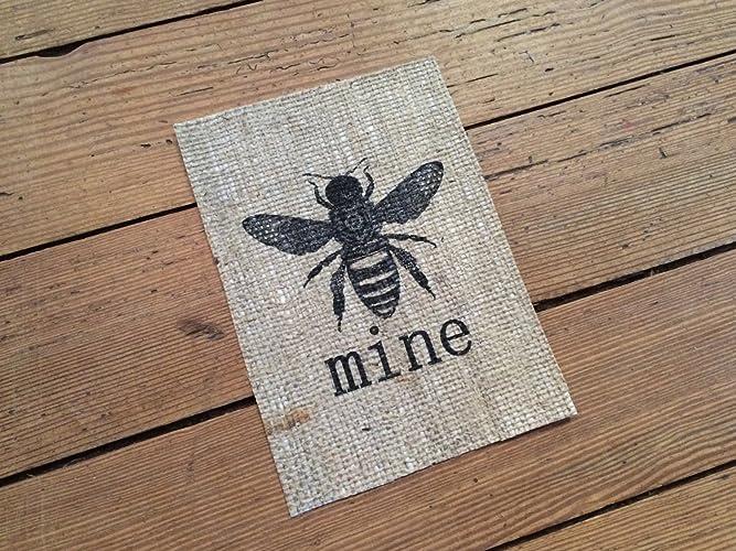 Amazon Rustic Bee Mine Burlap Sign