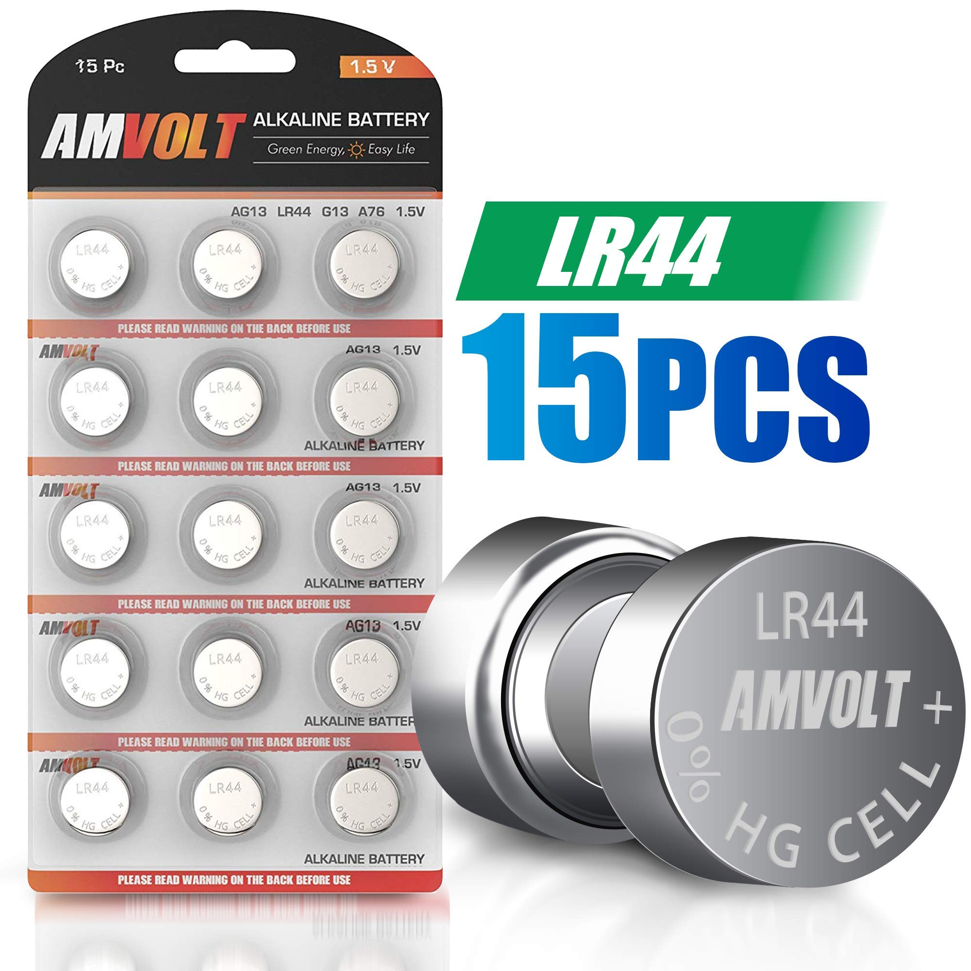 LR44 AG13 Battery – [Ultra Power] Premium Alkaline 1.5 Volt Non Rechargeable Round Button Cell Batteries for Watches Clocks Remotes Games Controllers Toys & Electronic Devices