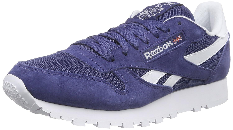 Reebok Herren Classic Leather is Laufschuhe Blau Midnight Blue/White