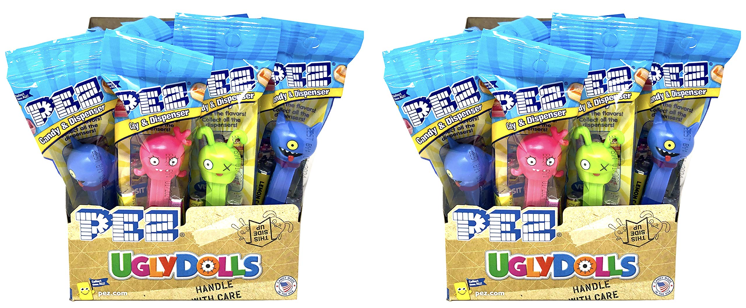 Pez Ugly Dolls Dispensers Individually Wrapped Candy and Dispensers with Tru Inertia Kazoo (24 Pack)
