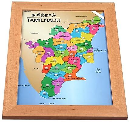 Buy rk cart tamil nadu map puzzle online at low prices in india rk cart tamil nadu map puzzle gumiabroncs Choice Image