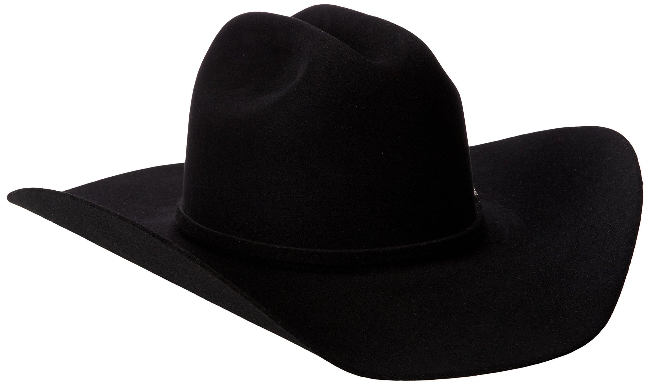 Tony Lama Men's Low Rodeo-6X Felt Cowboy Hat, Black, 7 1/4