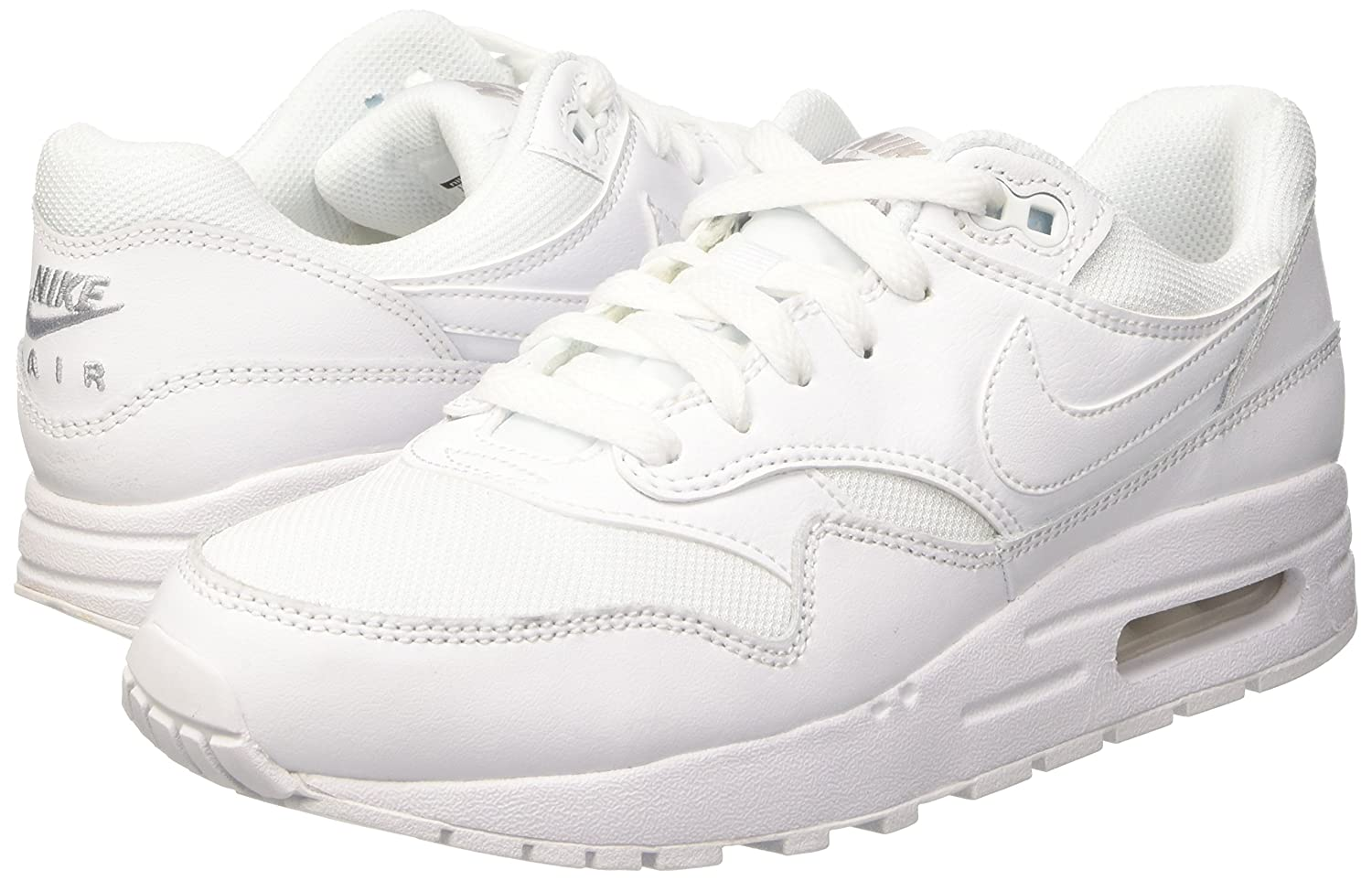 mode designer b25e6 3e4b8 NIKE Youths Air Max 1 Leather Trainers