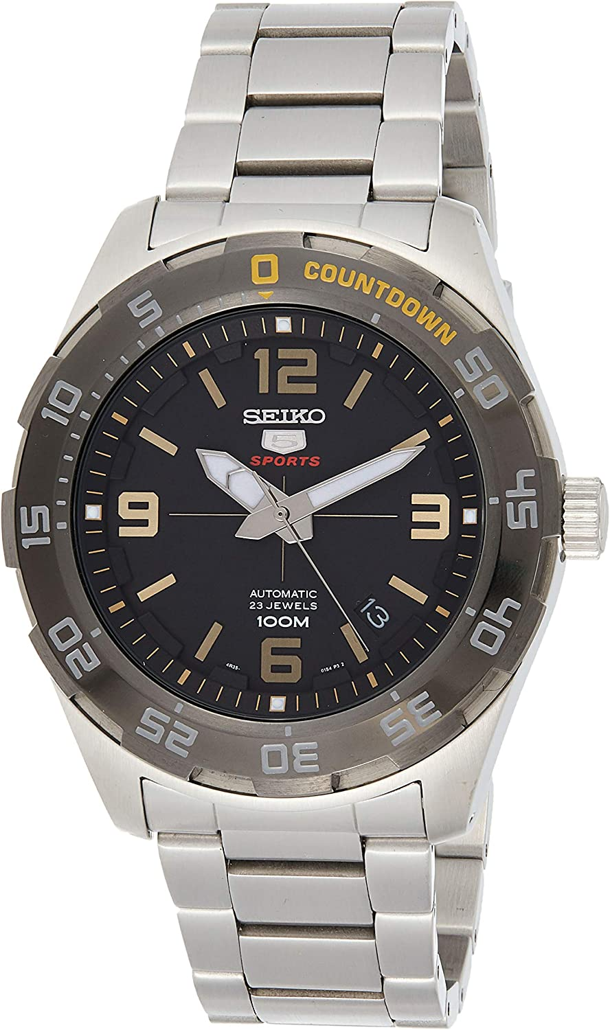 Seiko 5 Automatic Black Dial Mens Watch SRPB83