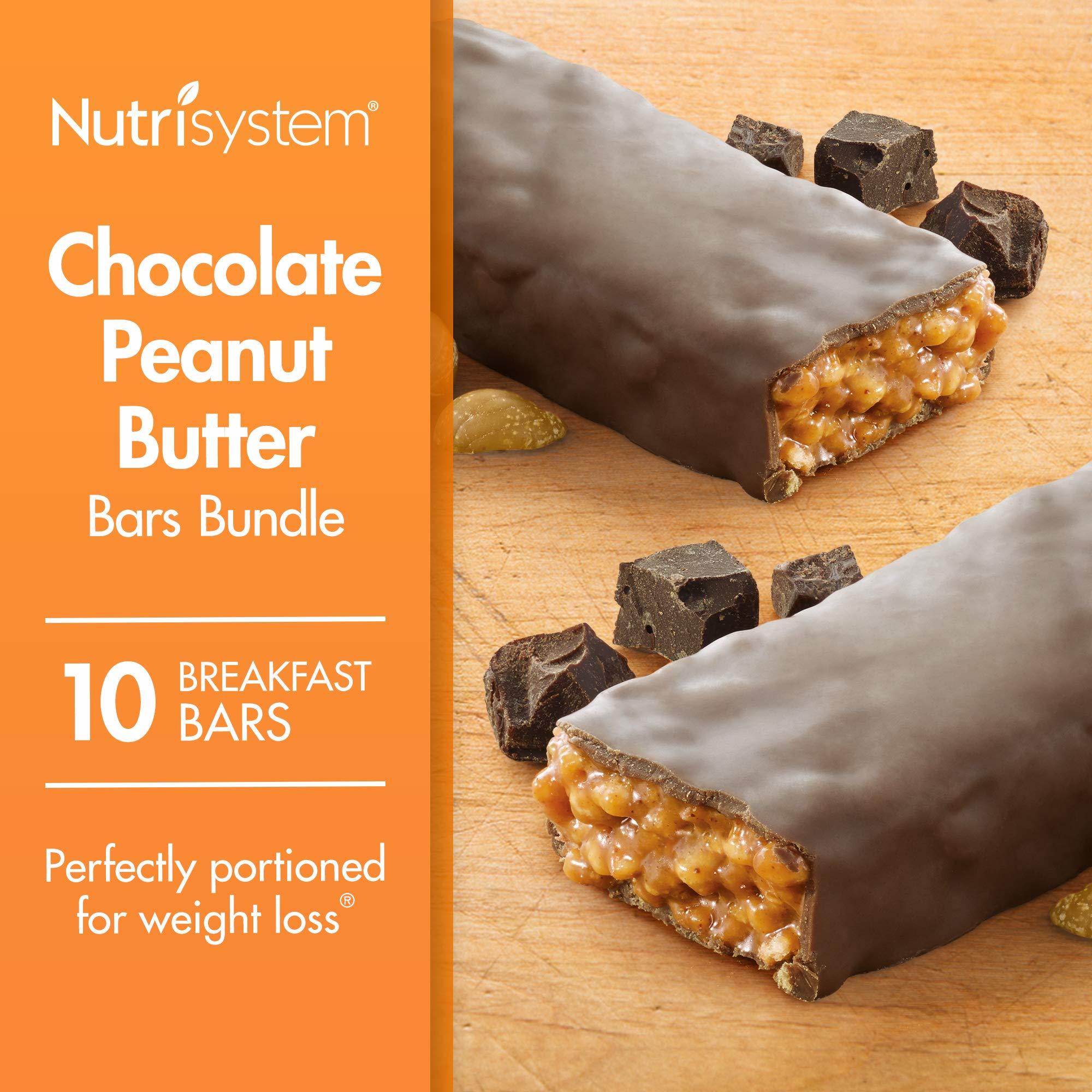 Nutrisystem® Chocolate Peanut Butter Bars Bundle, 10 Count Bars