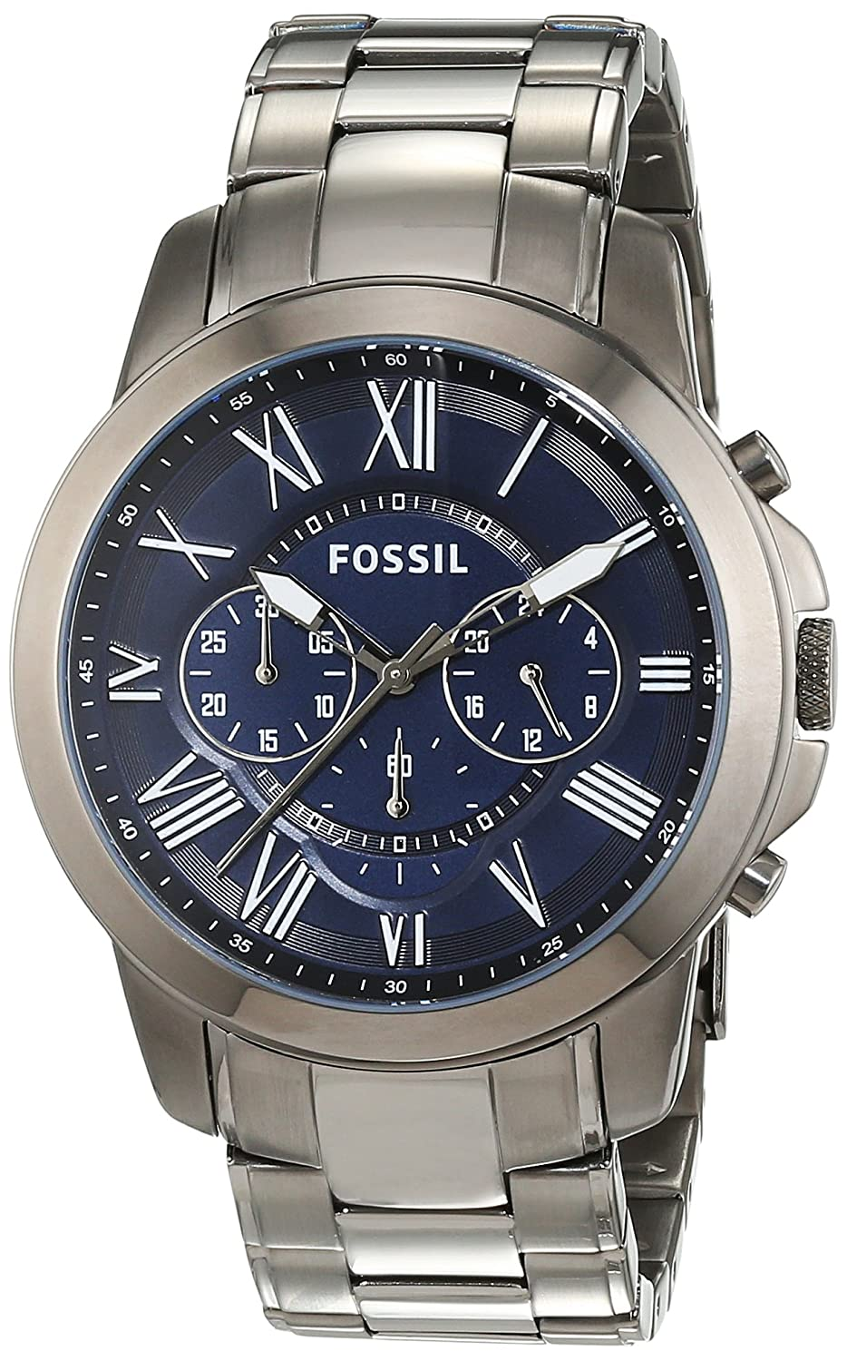 Amazon.com: Fossil Mens FS4831 Grant Chronograph Smoke-Tone Stainless Steel Watch: Fossil: Watches
