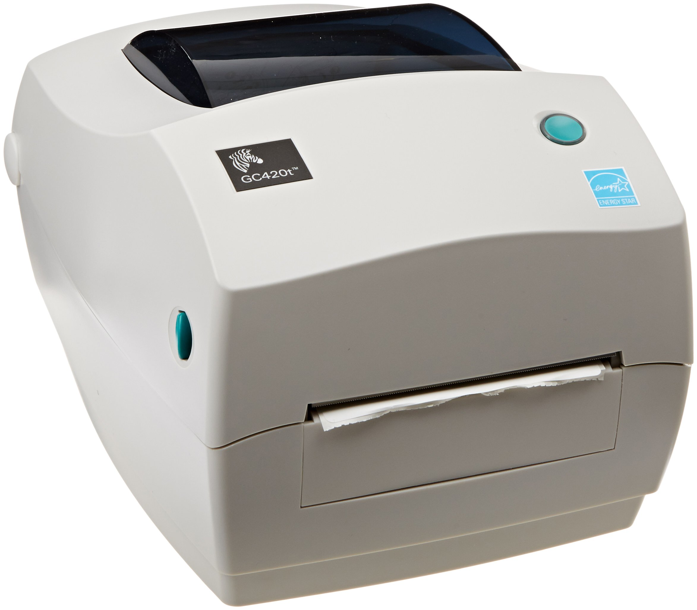 Zebra GC420t Monochrome Desktop Direct Thermal/Thermal Transfer Label Printer, 4''/s Print Speed, 203 dpi Print Resolution, 4.09'' Print Width, 110-240V AC by Zebra (Image #1)