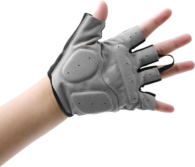 EULANT Fahrradhandschuhe Fingerlos Gepolstert Handschuhe Halbfinger