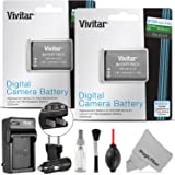2 Pack Vivitar EN-EL23 Battery and Charger Kit for Nikon Coolpix P900, P600, P610, B700 and S810c (100% Compatible, Fully Decoded 2550mAh Rechargeable Lithium-Ion Batteries)