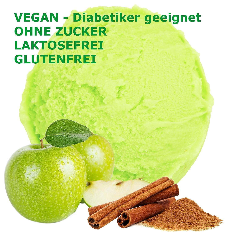 1 kg de crema sabor a manzana canela en polvo de hielo vegana - Azúcar - LACTOSA - GLUTEN - baja en grasa, leche en polvo de helado suave de hielo crema ...