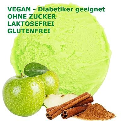 1 kg de crema sabor a manzana canela en polvo de hielo vegana ...