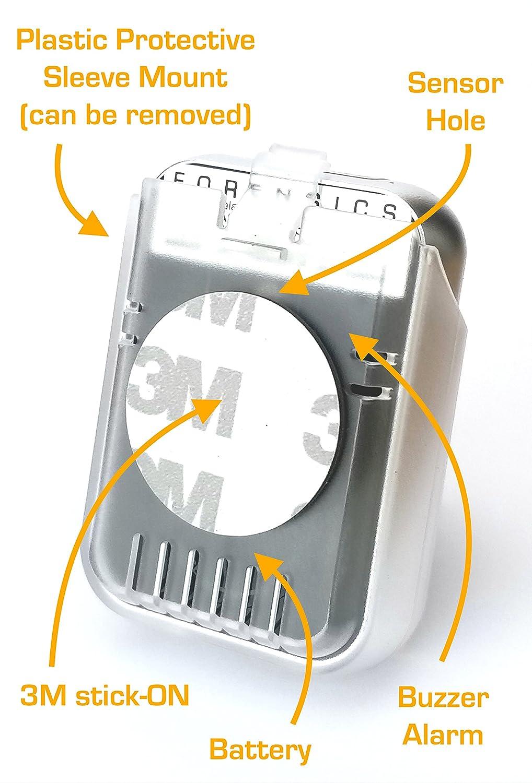 FORENSICS Detector de Coches, vehículo, avión monóxido de Carbono Co | Cuerpo de Metal, pequeño 2Oz: Amazon.es: Electrónica