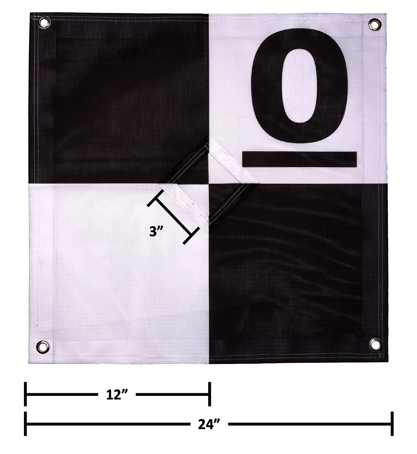 UAV Ground Control Points (GCPs)/Aerial Targets for Aerial Mapping &  Surveying (10 Pack) with Center Passthrough Numbered 0-9 (Black & Grey)