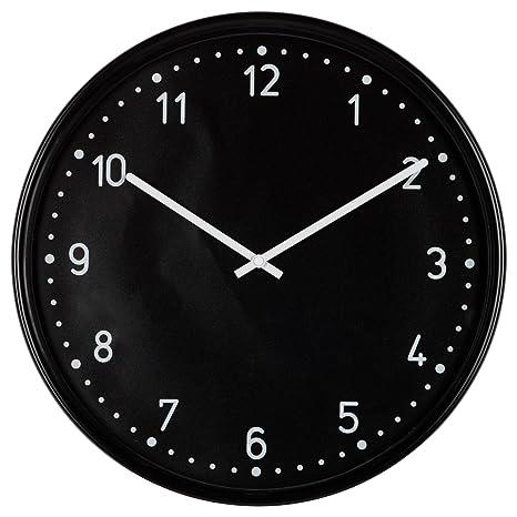 IKEA bondis - Reloj de pared, negro