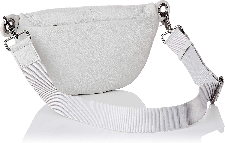 Mandarina Duck Mellow Leather Bum Bag, Sac Messager Femme, 10x16x30 Centimeters (W x H x L) Gris (Mist)