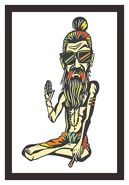 Mad Masters Funky Baba - Yogi Holding a Joint or Cigarette. 1 Piece ...