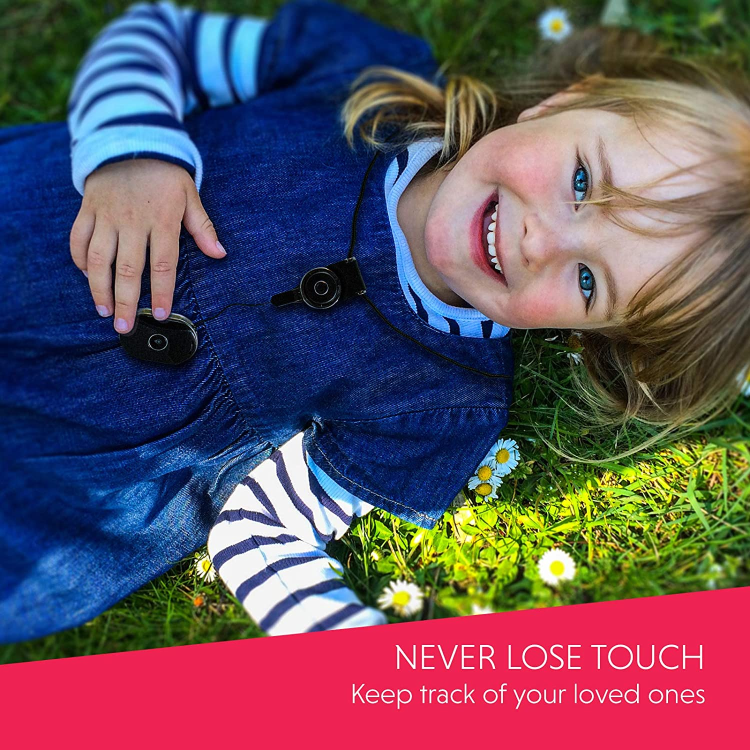 UBEE JUNIOR Unlimited Range SOS alerts and Free Shareable App GPS Tracker for Toddlers