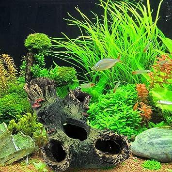 igemy nueva llegada tronco Bole de resina decoración para acuario Peces Tanque Libre envío: Amazon.es: Hogar