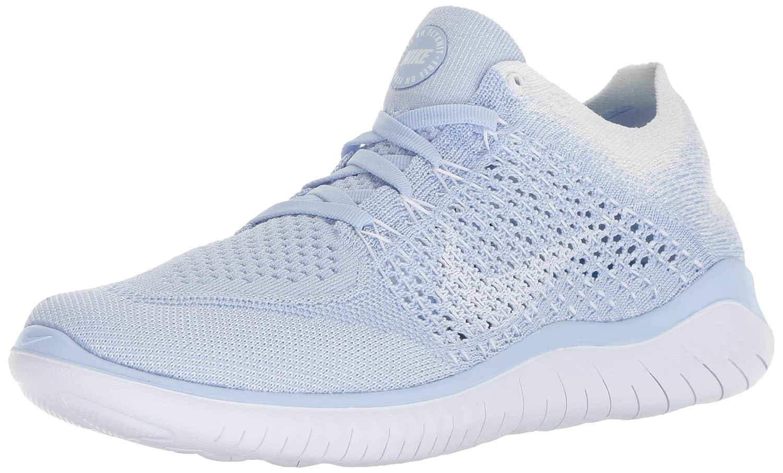 947b634e13ede NIKE Women s Free Rn Flyknit 2018 Hydrogen Blue White White Running Shoe  7.5 Women US  Amazon.co.uk  Welcome