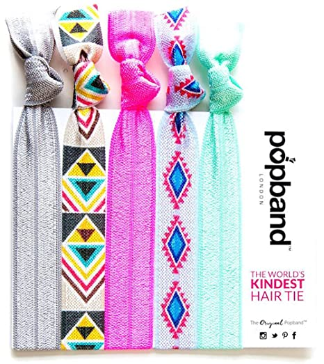 Buy Tribal Popbands (Multi Pack of Grey, Beige, Neon Pink