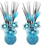 Flourish 813 Mini Articial-Vaso da fiori, colore: blu, 32 cm, 1 paio