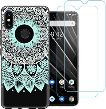 Funda para UMIDIGI S3 Pro,Tótem Verde Menta Flexible Suave Silicona Smartphone Cascara Protectora para UMIDIGI S3 Pro (6,3
