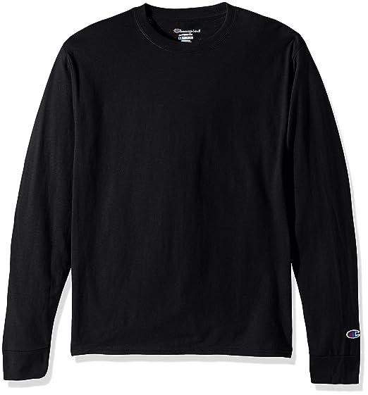 2882b3e460d Amazon.com  Champion LIFE Men's Cotton Long Sleeve Tee  Clothing