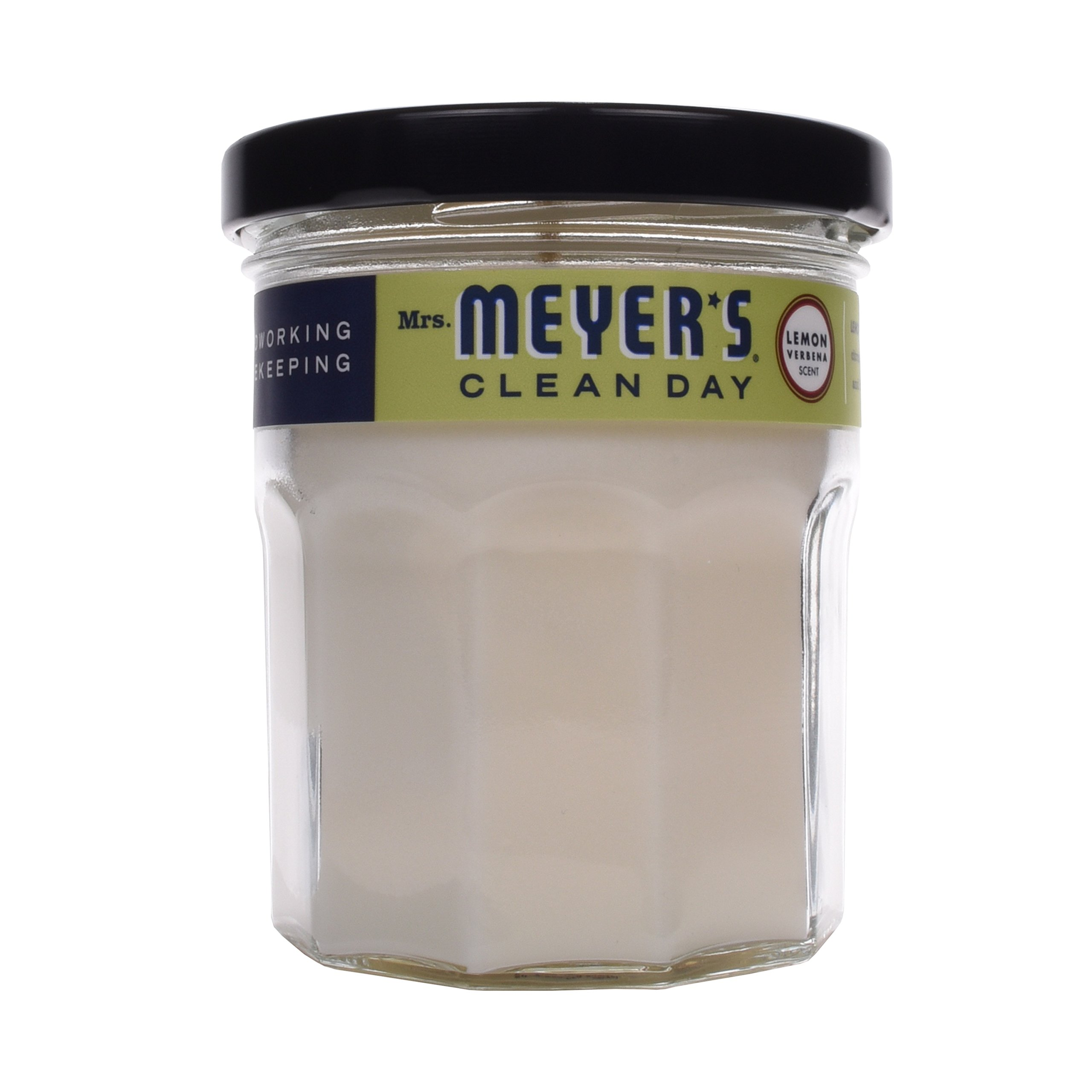 Mrs. Meyer's Clean Scented Soy Candle, Small Glass, Lemon Verbena, 4.9 oz